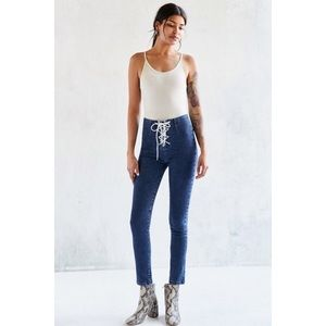 BDG Twig Lace Up High Rise Skinny Jeans Size 28